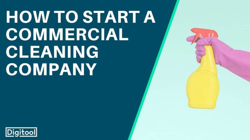 how to start a commercial cleaning company - individual in pink gloves with a yellow spray bottle