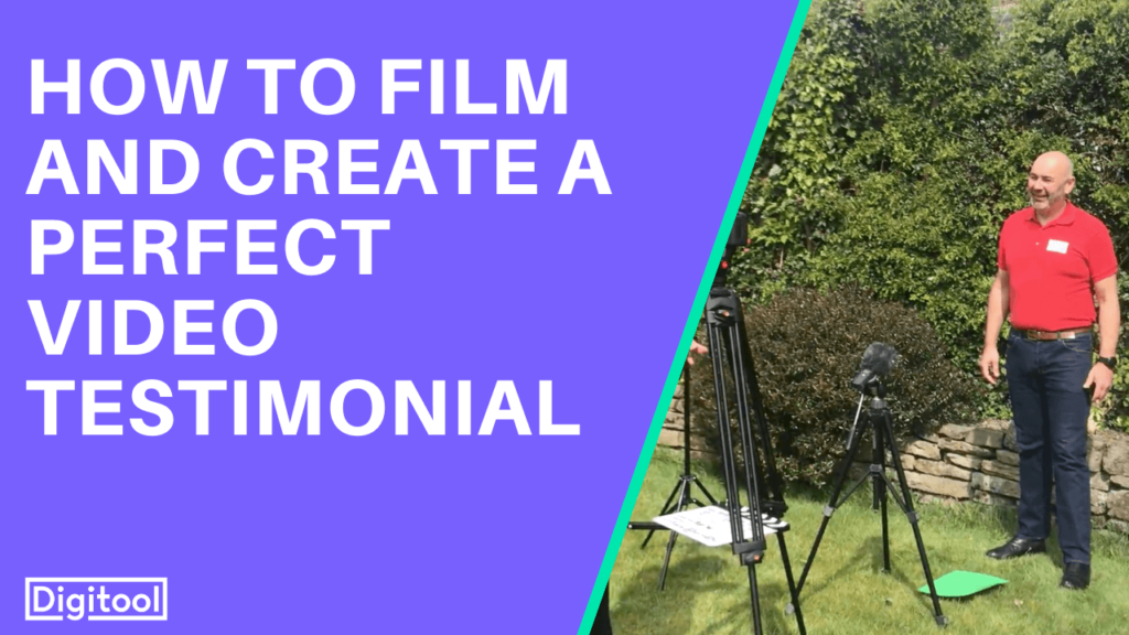 how to film a perfect video testimonial - image of a man in front of a camera