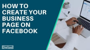 how to create your business page on facebook - someone working on a laptop with facebook on