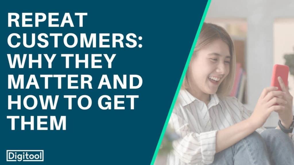 Repeat Customers - Individual smiling at their phone