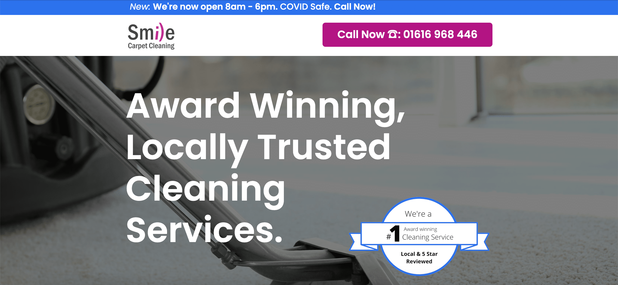"""Award Winning, Locally Based Cleaning Services""""."""