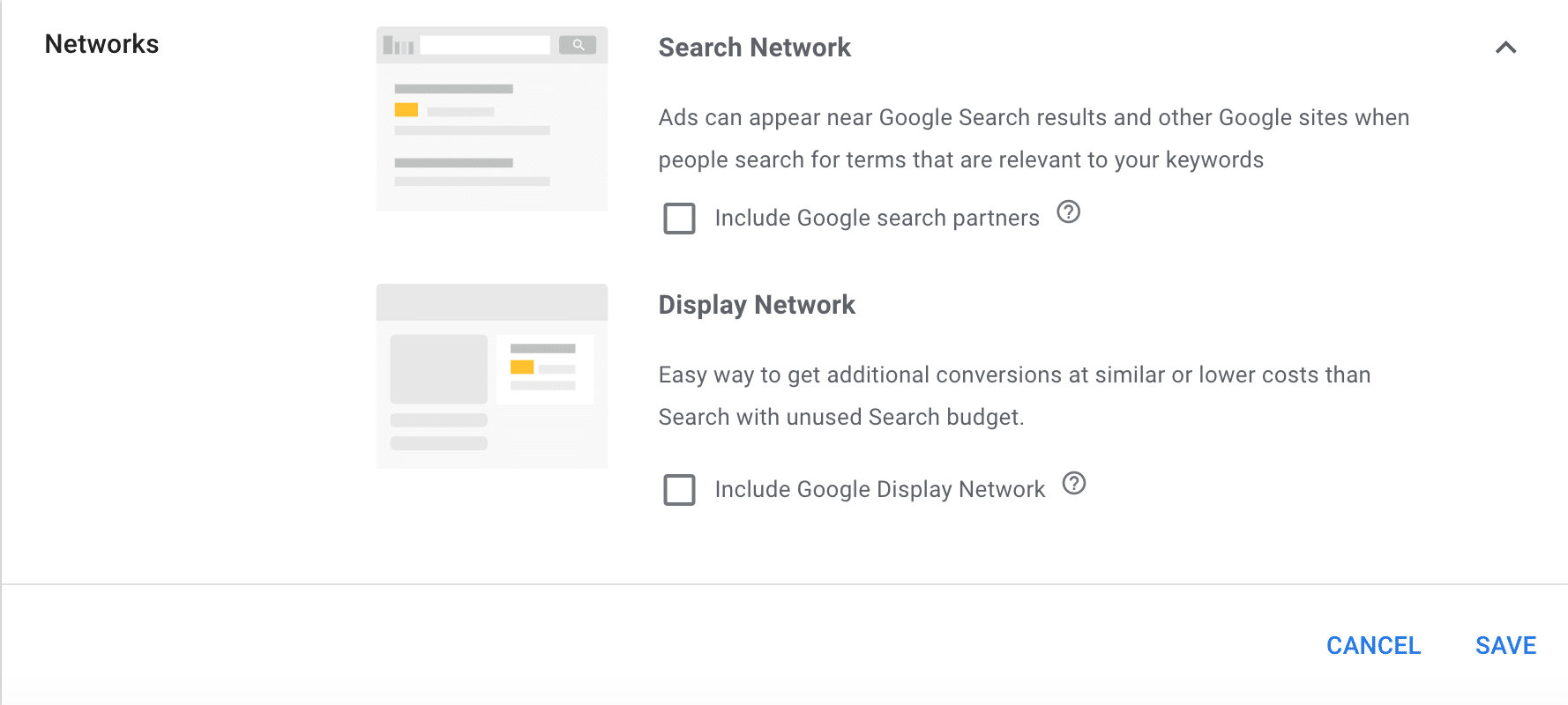 picture of the search partner option